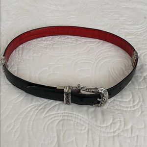 Brighton leather reversible belt (red & black)